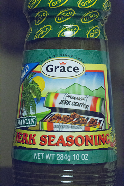 Grace Jerk Seasoning, this happens to be mild flavor it also comes in a spicy version.