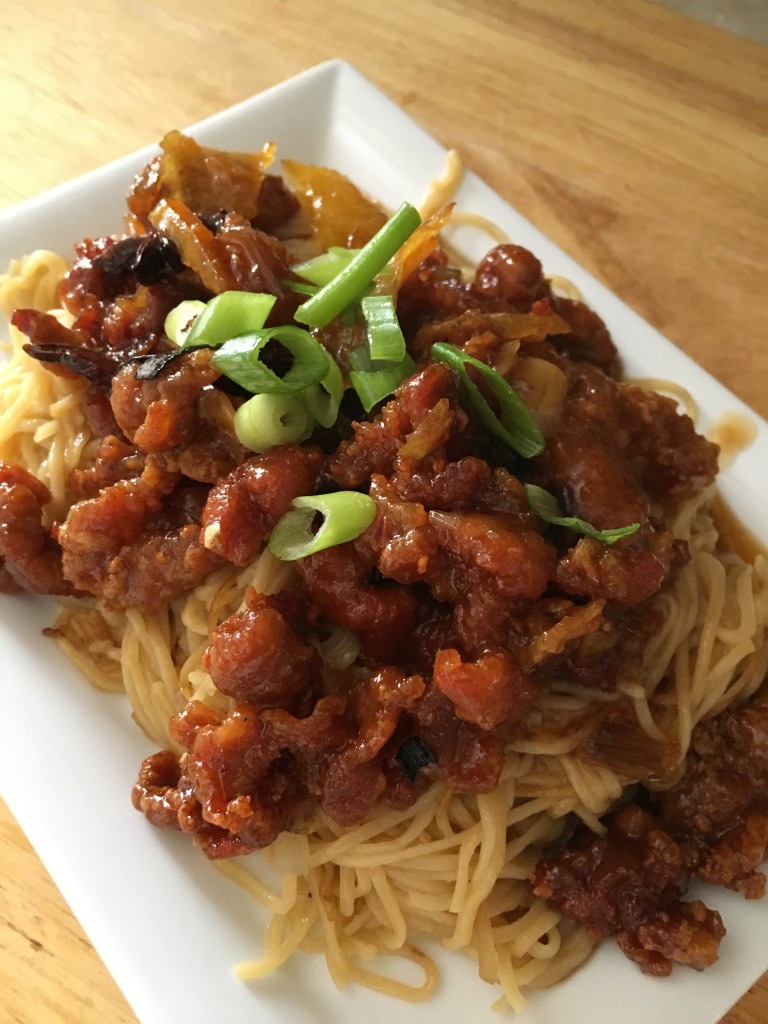 Orange Pork with Noodles